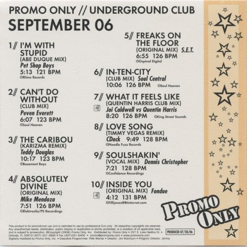 Promo Only: Underground Club (September 2006)