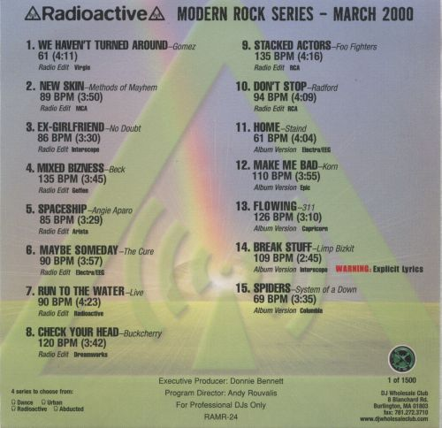 Radioactive: Modern Rock Series (March 2000)