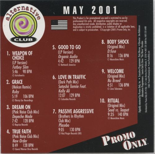 Promo Only: Alternative Club (May 2001)