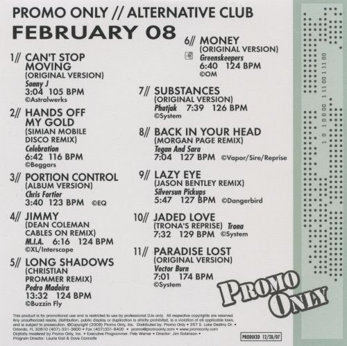 Promo Only: Alternative Club (February 2008)