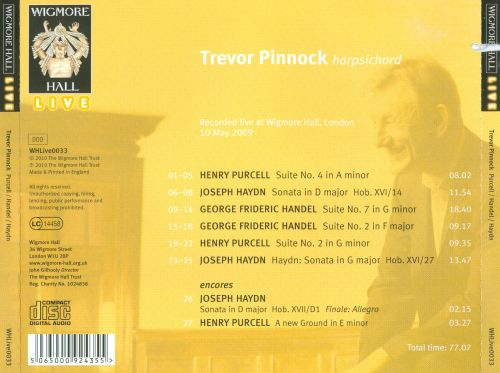 Suites by Purcell and Handel; Sonatas by Haydn