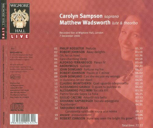 Not Just Dowland: Songs for Soprano and Lute