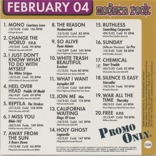 Promo Only: Modern Rock Radio (February 2004)