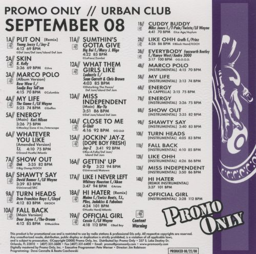 Promo Only: Urban Club (September 2008)