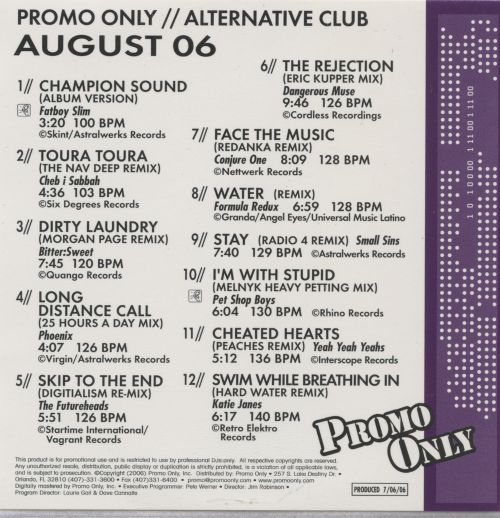Promo Only: Alternative Club (August 2006)