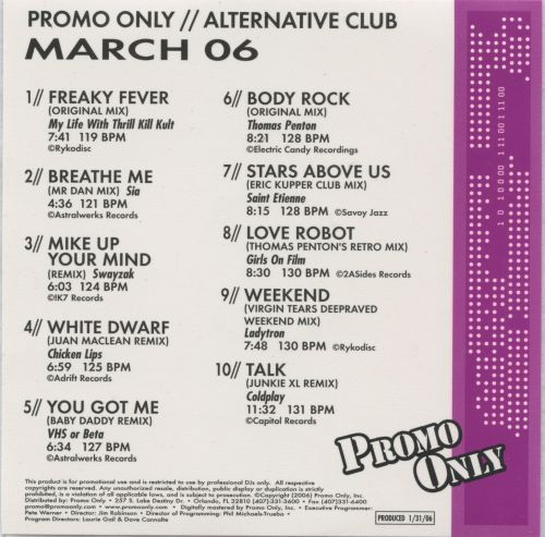 Promo Only: Alternative Club (March 2006)