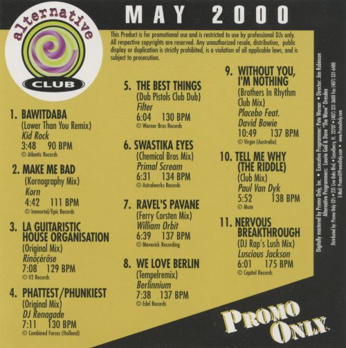 Promo Only: Alternative Club (May 2000)