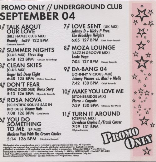 Promo Only: Underground Club (September 2004)