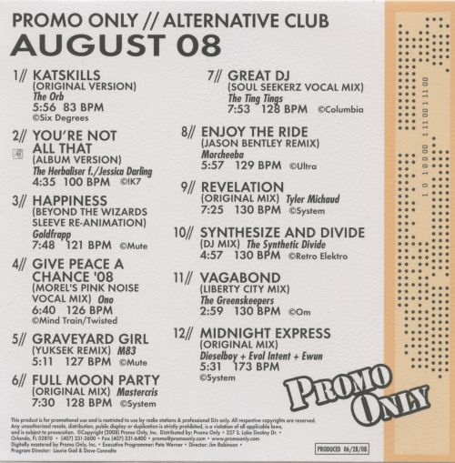Promo Only: Alternative Club (August 2008)