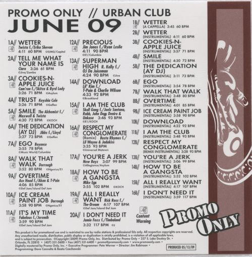 Promo Only: Urban Club (June 2009)
