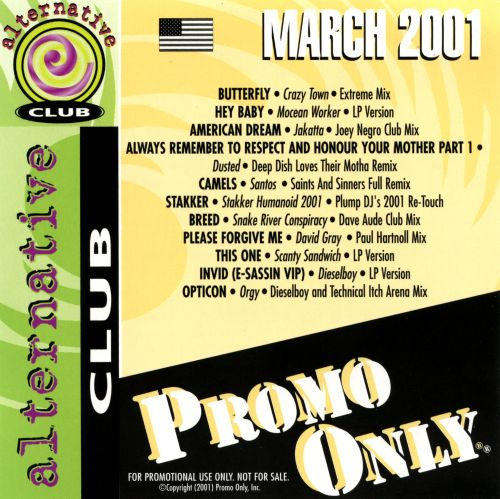 Promo Only: Alternative Club (March 2001)