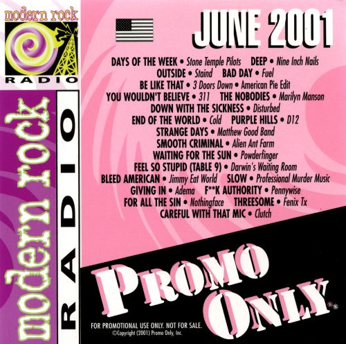 Promo Only: Modern Rock Radio (July 2001)