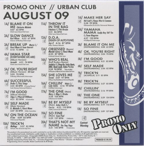 Promo Only: Urban Club (August 2009)