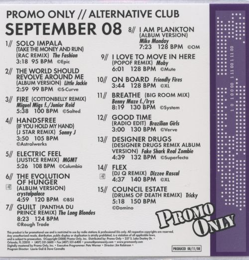 Promo Only: Alternative Club (September 2008)