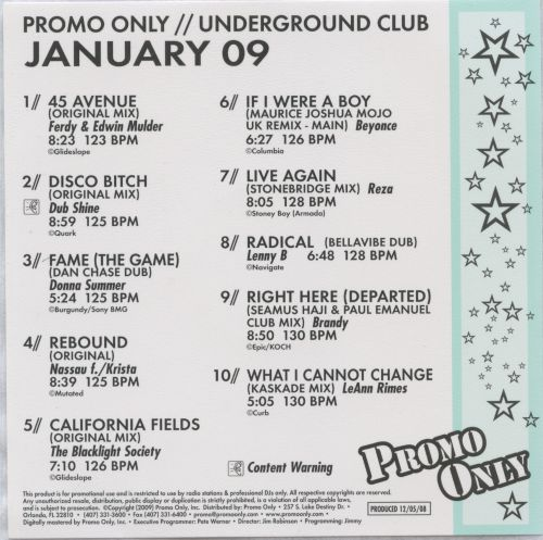 Promo Only: Underground Club (January 2009)