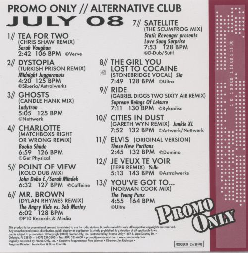 Promo Only: Alternative Club (July 2008)