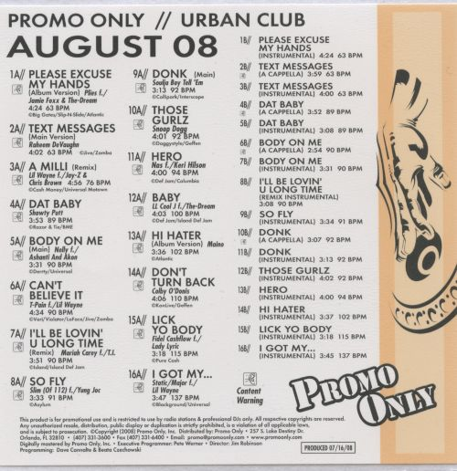 Promo Only: Urban Club (August 2008)