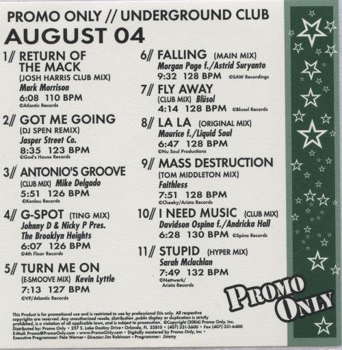 Promo Only: Underground Club (August 2004)