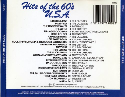 Hits of the 60's U.S.A.