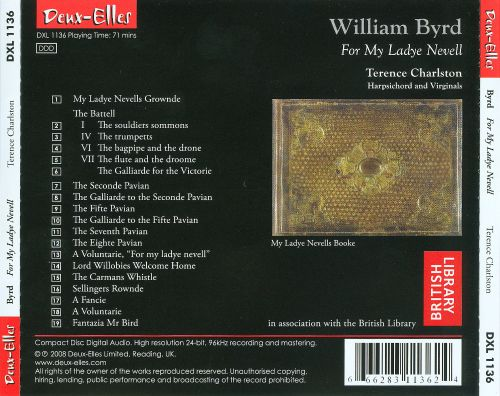 William Byrd: For My Ladye Nevell