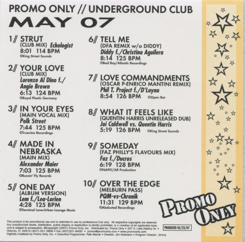 Promo Only: Underground Club (May 2007)