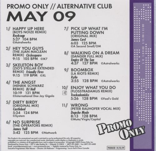 Promo Only: Alternative Club (May 2009)