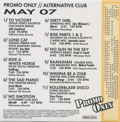 Promo Only: Alternative Club (May 2007)