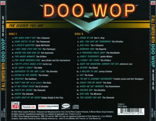 It All Started With Doo Wop: The Closer You Are