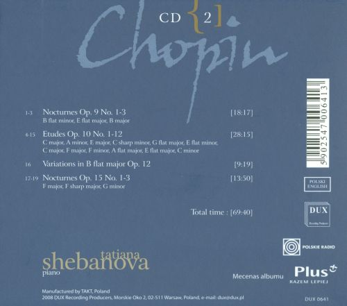 Chopin: Complete Solo Piano Works in Opus Order - Op. 9-15