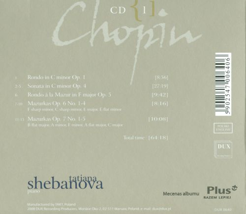 Chopin: Complete Solo Piano Works in Opus Order - Op. 1-7