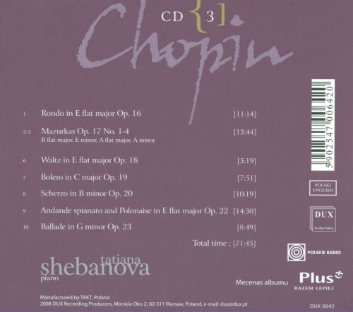 Chopin: Complete Solo Piano Works in Opus Order - Op. 16-23