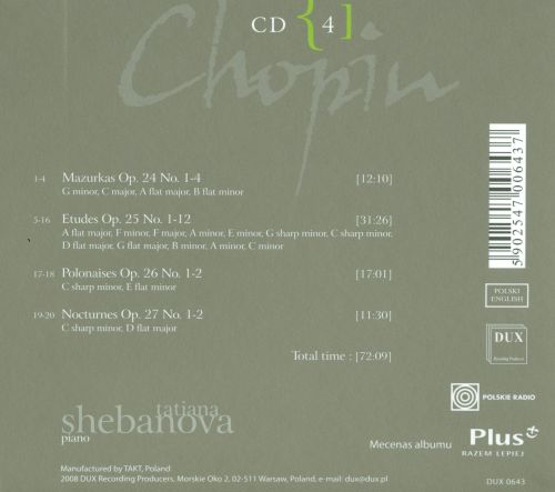Chopin: Complete Solo Piano Works in Opus Order - Op. 24-27