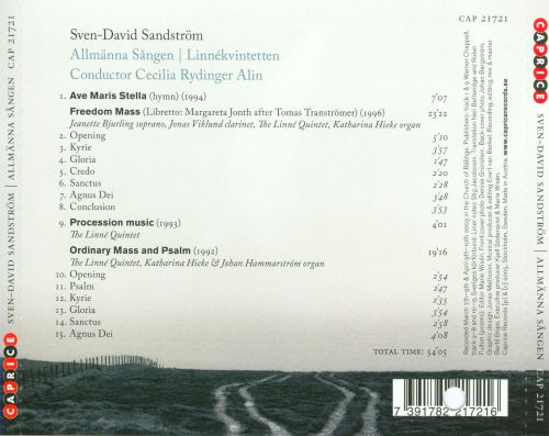Sven-David Sandström: Ave Maris Stella; Freedom Mass; Procession Music & Others