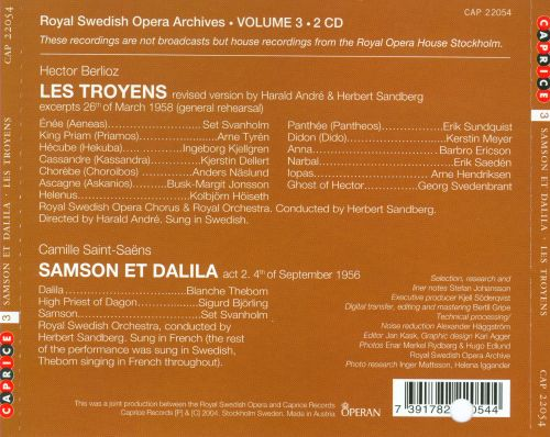 Royal Swedish Opera Archives, Vol. 3