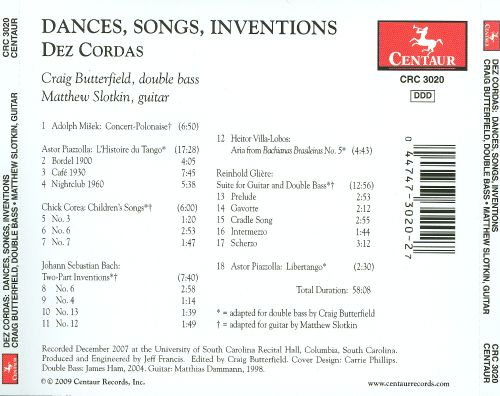 Dances, Songs & Inventions