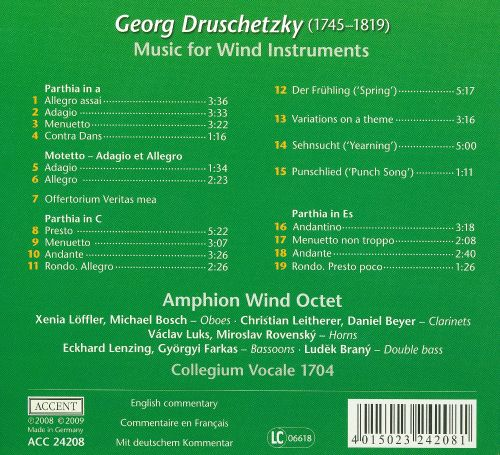 Georg Druschetzky: Music for Wind Instruments