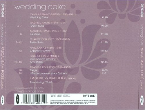 Wedding Cake: Music for Piano Duo