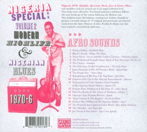 Nigeria Special, Vol. 2: Modern Highlife, Afro-Sounds and Nigerianblues 1970-1976