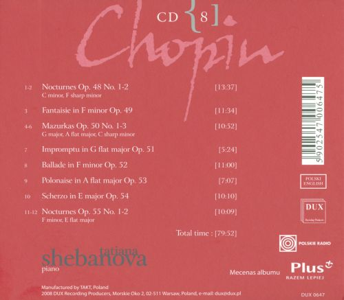 Chopin: Complete Solo Piano Works in Opus Order - Op. 48-55