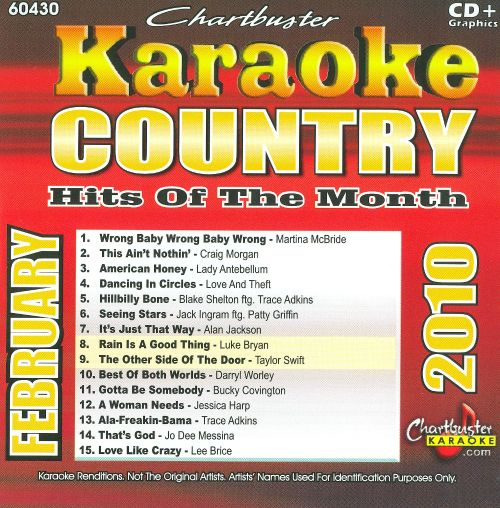 Karaoke: Country Hits of Month - February 2010