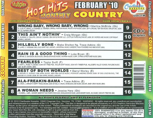 Karaoke: Hot Hits Country - February 2010