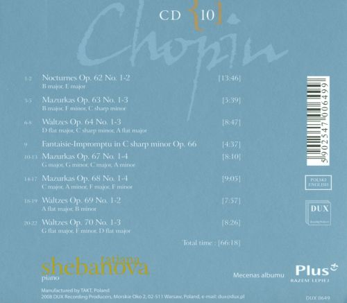 Chopin: Complete Solo Piano Works in Opus Order - Op. 62-70