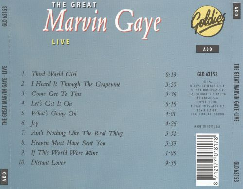 Great Marvin Gaye: Live