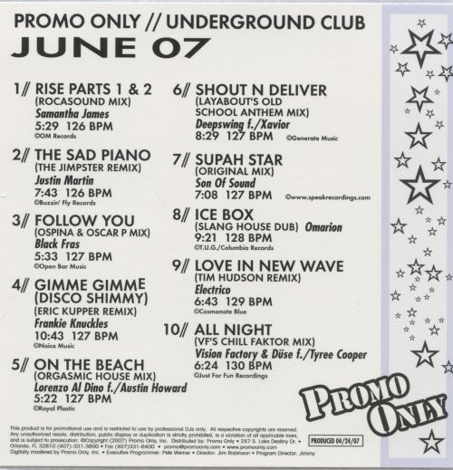 Promo Only: Underground Club (June 2007)