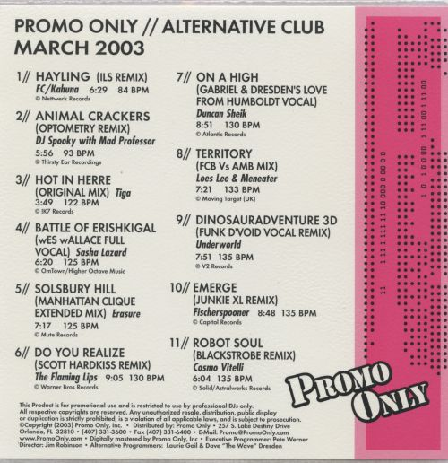 Promo Only: Alternative Club (March 2003)