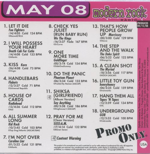Promo Only: Modern Rock Radio (May 2008)