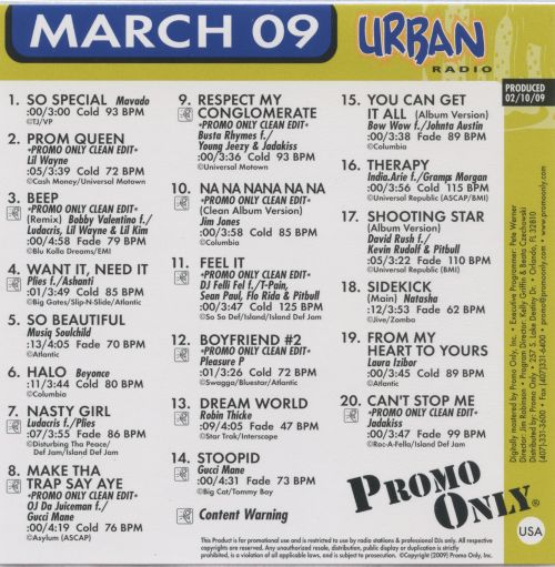 Promo Only: Urban Radio (March 2009)