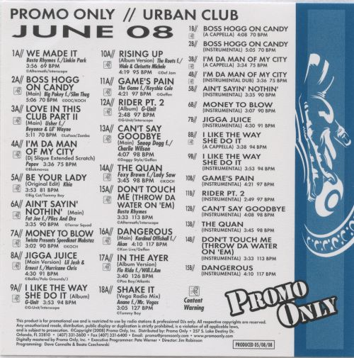 Promo Only: Urban Club (June 2008)