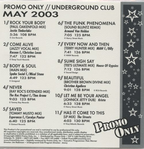 Promo Only: Underground Club (May 2003)
