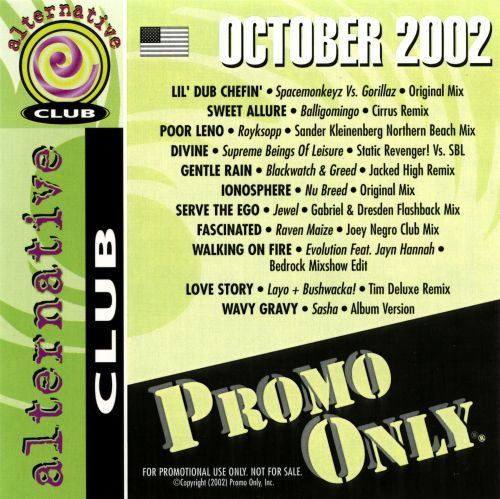 Promo Only: Alternative Club (October 2002)